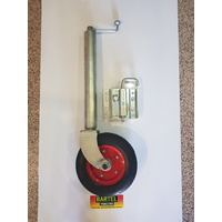 "10"" Easylift heavy duty swing up Jockey Wheel long shaft loose bracket u bolt mount or weld on"