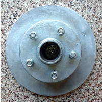 "BRAKE DISC 10"" GALVANISED HT HOLDEN PAIR WITHOUT BEARINGS"